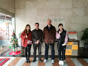The customers from Turkey visited our factory