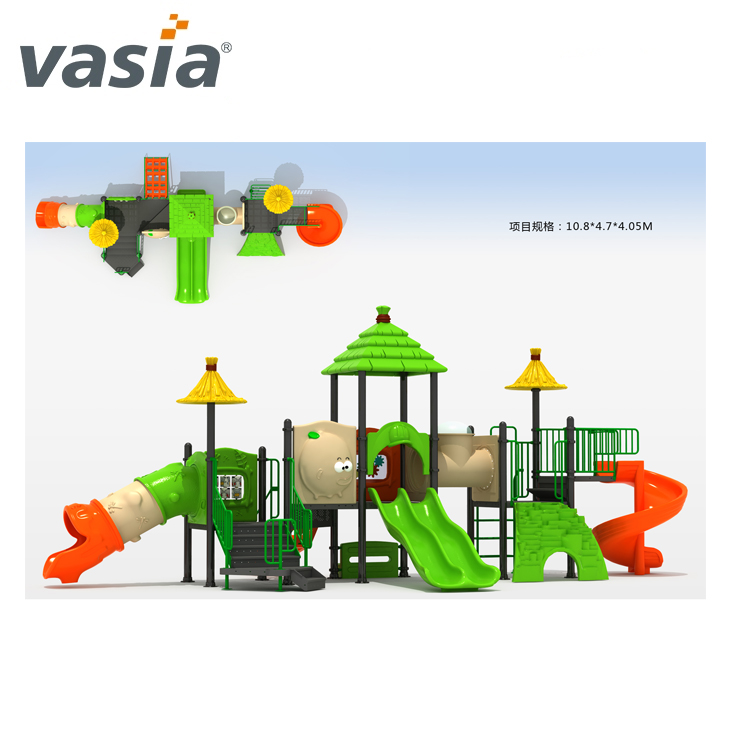 playgoruound amusement park clifdrem game big equipment slide plastic amsusemnt park Outdoor playground attractive equipment VS2-161114B-32