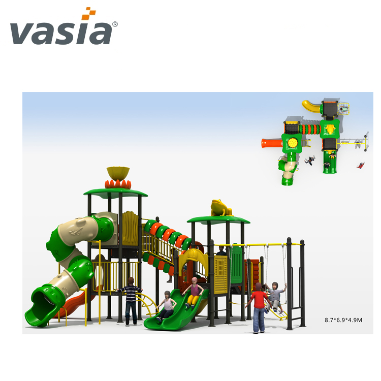 Best-selling professional Plastic outdoor play playground for Children VS2-170328-32