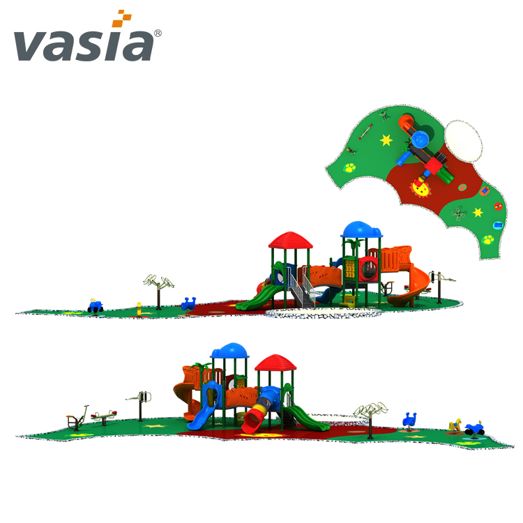 2018 Cheap durable customized children outdoor playground for slides VS2-170330C-32