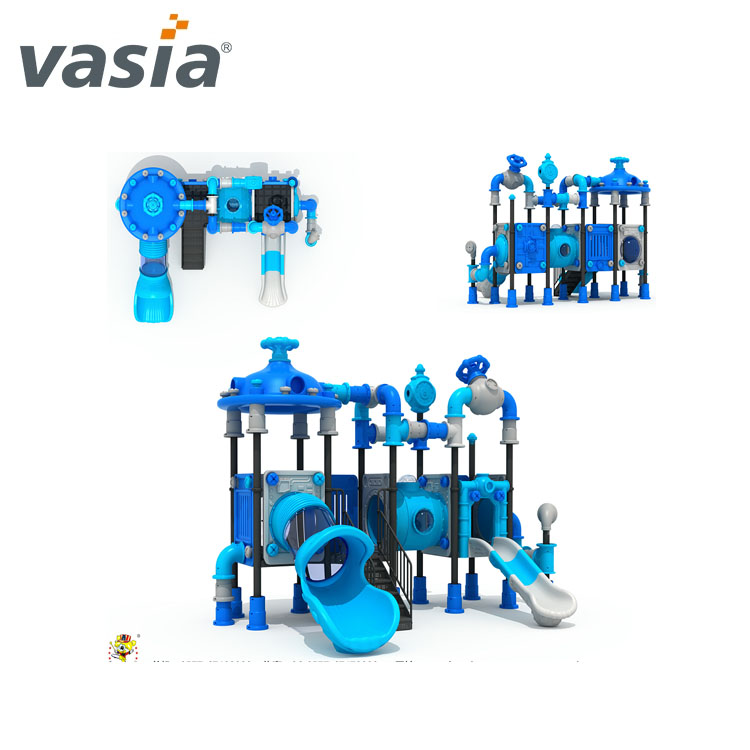 children outdoor playground cheap amusement park garden items kids play area LLDPE LE plastic slide VS2-160323-02-32