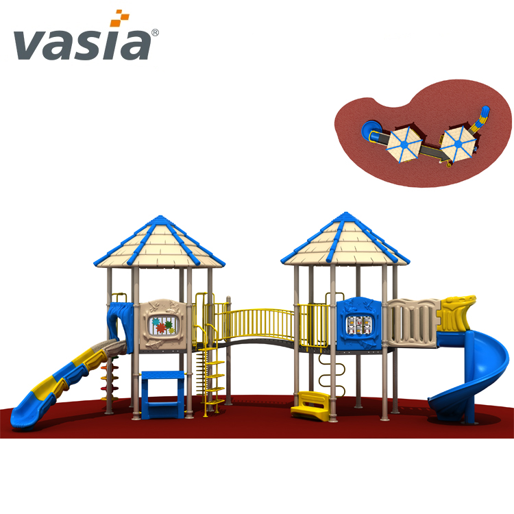 castle outdoor playground slide equipment for little kids VS2-160929E-32