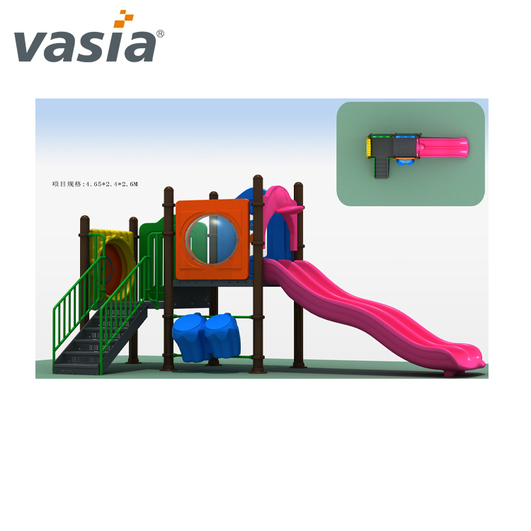 Large-scale Kids Outdoor environmental playground equipment Slides VS2-161109-07-32