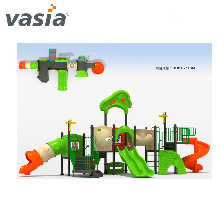 Attractive double slide outdoor adventure playground equipment VS2-161114A-32