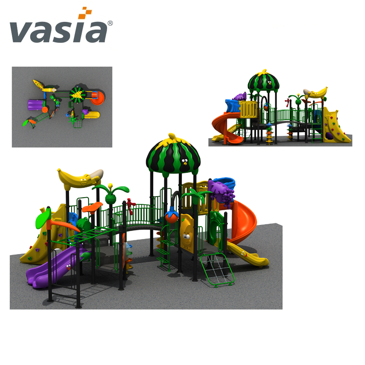 children outdoor playground cheap amusement park garden items kids play area LLDPE LE plastic slide VS2-161128B-32