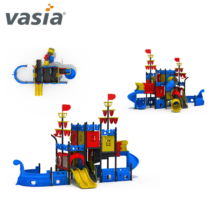 Hot sale kids toys playground plastic tunnels and slides for kids VS2-170419-32